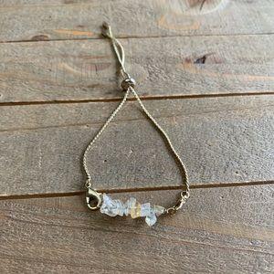 Handmade Natural Citrine Gold Adjustable Bracelet